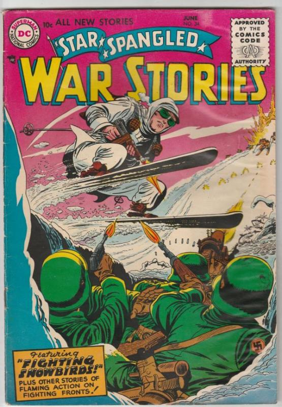 Star Spangled War Stories #34 (Jun-55) VG+ Affordable-Grade One-Man Navy