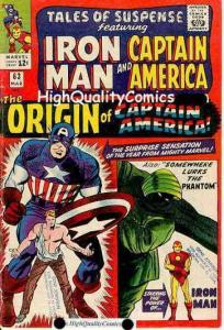 TALES OF SUSPENSE 63, FN/FN+, Origin Captain America, Jack Kirby, TOS
