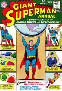 Superman Annual #8 (ungraded) 1963 Giant Size 80pgs stock photo / SCM