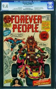 Forever People #1 - CGC 9.4 -Jack Kirby- 1st full Darkseid-High Grade 0280678014