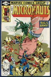 Micronauts #19 NM+ 9.6 Odd John captures Bug and mutates him