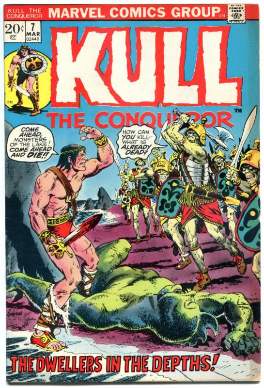KULL the CONQUEROR #7 8 9 10, VF Robert E Howard, 1971, Warrior, Thulsa Doom