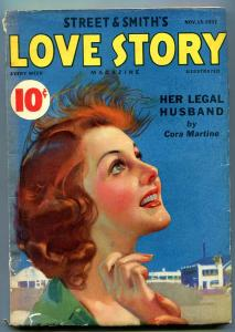 Love Story Pulp November 13 1937- Her Legal Husband- FN-