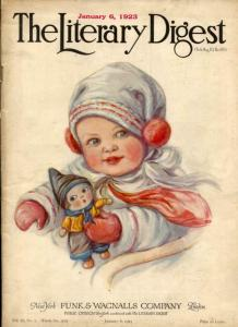 Literary Digest January 6 1923-Baby cover FN