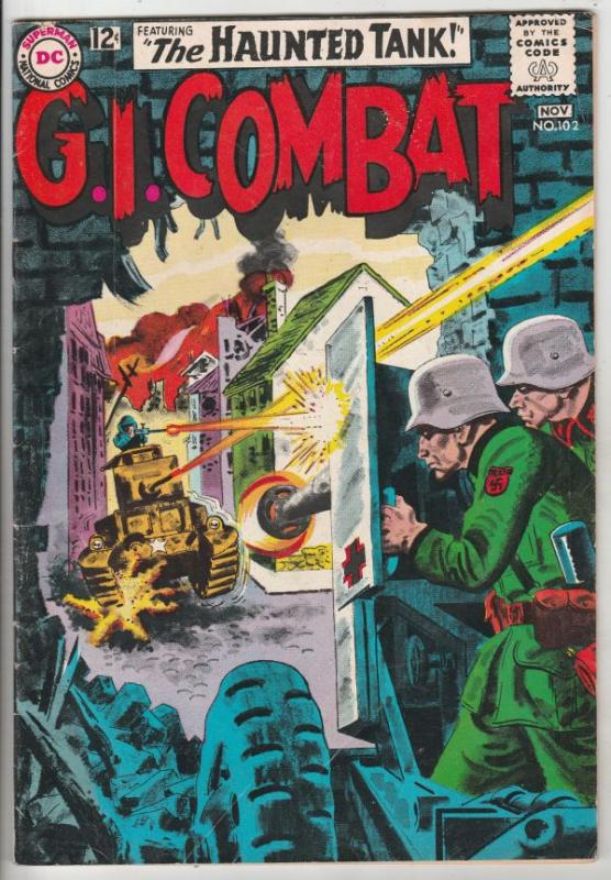 G.I. Combat #102 (Nov-63) FN/VF+ Mid-High-Grade The Haunted Tank