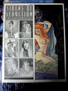 Kim DeMulder Lot of 3 11 x 14 Art Portolios beautiful female artwork
