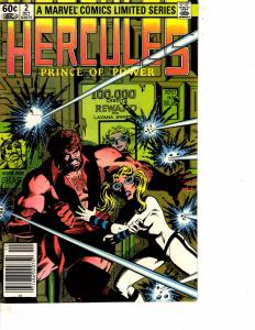 Lot Of 2 Hercules Prince of Power Marvel Comic Books #2 3 ON11