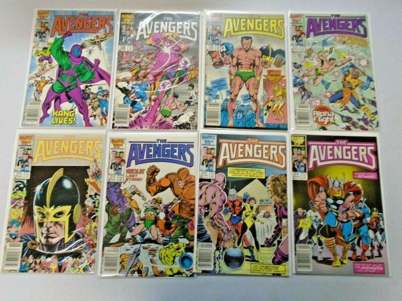 Avengers Comic Lot From #250-298 42 Diff Average 7.0 (Range 6.0 - 8.0) (1984-88)