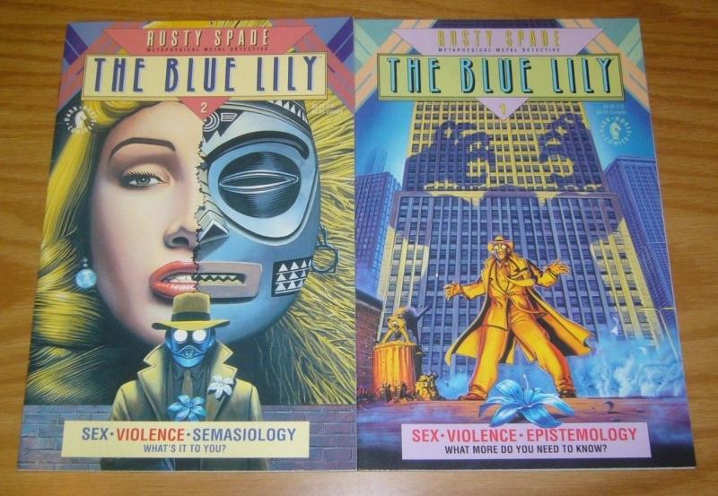 Blue Lily #1-2 VF/NM complete series ANGUS MCKIE metaphysical metal detective