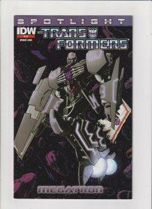 Transformers Spotlight- Megatron VF 8.0 2nd Print IDW Comics 2013 Decepticons