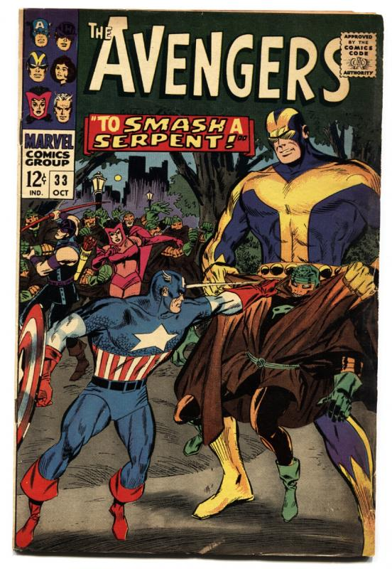 THE AVENGERS #33 1966 CAPTAIN AMERICA IRON MAN MARVEL fn-