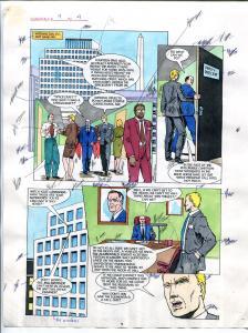 Elementals #9 Page #4 Original Color Guide Ken Feduniewicz