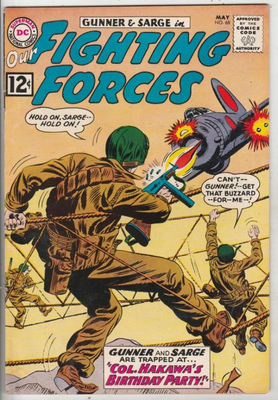 Our Fighting Forces #68 (May-62) FN+ Mid-High-Grade Gunner and Sarge, Pooch