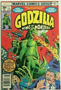 GODZILLA#1 VF/NM 1977 MARVEL BRONZE AGE COMICS