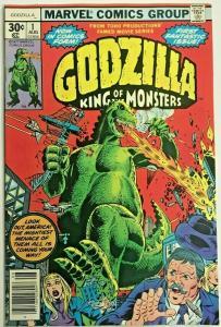 GODZILLA#1 VF/NM 1977 MARVEL BRONZE AGE COMICS