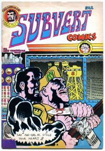 SUBVERT COMICS #1, FN, Spain Rodriguez, Underground, 1970, 3rd, more UG in store