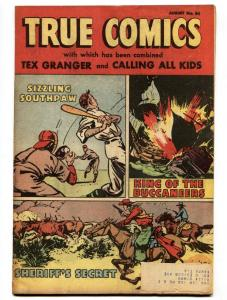 True Comics #84-1950-Wyatt Earp-Allan Pinkerton-comic-VF-