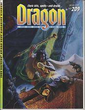 TSR DRAGON MAGAZINE #209 VF+