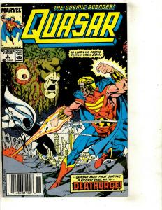 Lot Of 9 Comics Quasar # 2 3 4 5 6 7 9 Fantastic Four #288 The Thing # 34  WS2