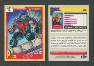 1991 Marvel Comics II  Card  #23 ( Puck )  MINT
