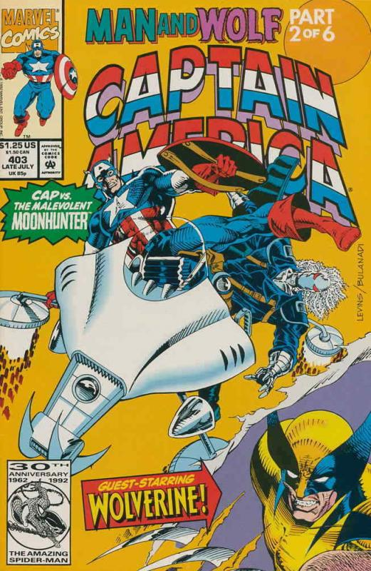 Captain America (1st Series) #403 VF/NM; Marvel | save on shipping - details ins