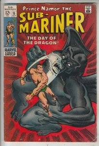 Sub-Mariner #15 (Jul-69) FN/VF Mid-High-Grade Sub-Mariner (Prince Namor)