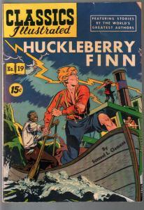 Classics Illustrated #9-HRN 89-Huckleberry Finn Samuel L. Clemens-VG-