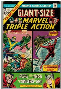 MARVEL TRIPLE ACTION GS  2 VG-F July 1975