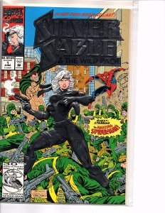 Marvel Comics Silver Sable and the Wild Pack #1 Spider-man Embossed Foil cover