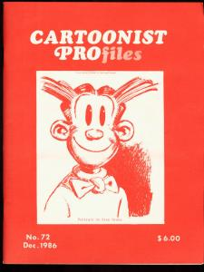 CARTOONIST PROFILES #72-1986-BLONDIE-DAGWOOD VF