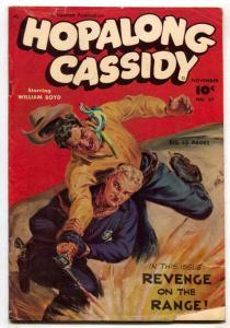 Hopalong Cassidy #37 1949- Golden Age Western VG-