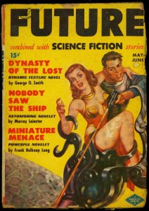 Future Science Fiction Pulp #1 May 1950- Spicy cover- James Blish G