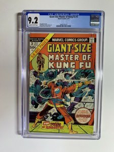 giant size master of kung fu 3 CGC 9.2 ow/w pages Marvel bronze age
