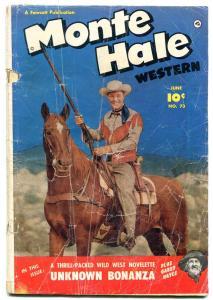Monte Hale Western #73 1952-FAWCETT  B-WESTERN PHOTO cover FR/G
