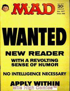 MAD (MAGAZINE) #107 Very Good
