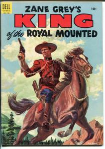 King of The Royal Mounted #18 1955-Dell-Zane Grey-book length-VF MINUS