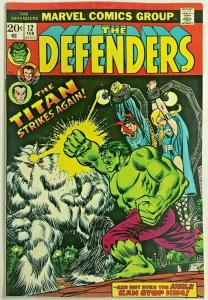 DEFENDERS#12 FN/VF 1973  MARVEL BRONZE AGE COMICS