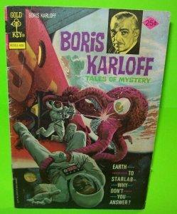 Boris Karloff Tales Of Mystery Comic Gold Key August 1974 Skylab Creature Space