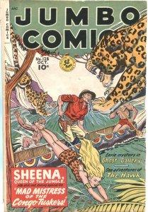 JUMBO #128-1949---SHEENA JUNGLE QUEEN---SKY GIRL BY MATT BAKER---SPICY