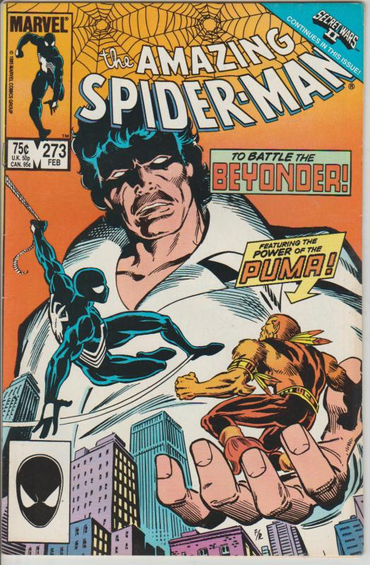 THE AMAZING SPIDERMAN  #273 - POWER OF PUMA - BAGGED AND BOARDED