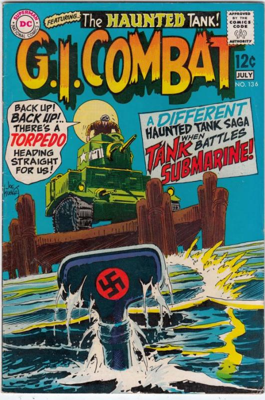 G I  Combat #136 (Jul-69) FN- Mid-High-Grade The Haunted
