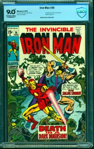 Iron Man #26 CBCS VF/NM 9.0 Off White to White Marvel Comics