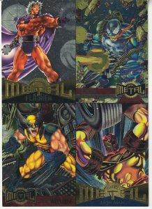 Marvel Metal Uncut 4 Card Promotional Trading Sheet (Fleer Ultra, 1995)