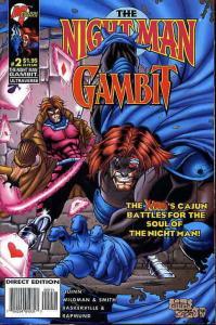 Night Man/Gambit, The #2 VF/NM; Malibu | save on shipping - details inside