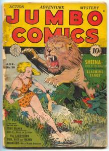 Jumbo Comics #30 1941- Sheena- Good Girl Art F/G