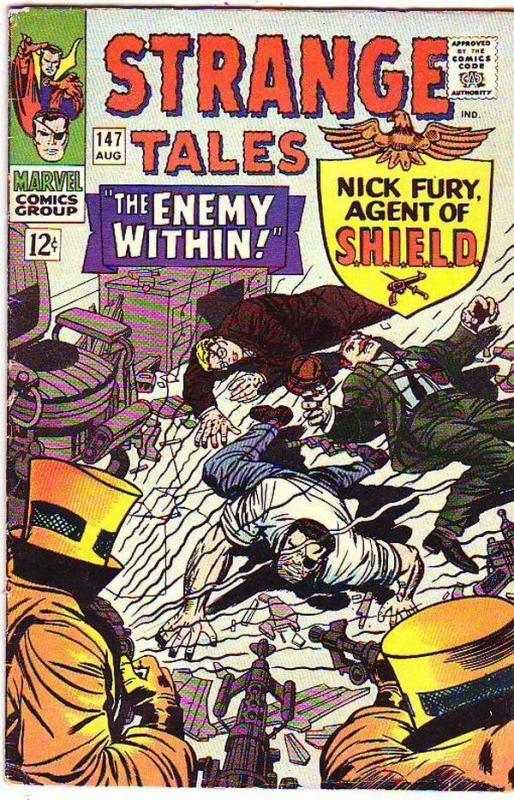 Strange Tales #147 (Aug-66) FN- Mid-Grade Nick Fury, Dr. Strange