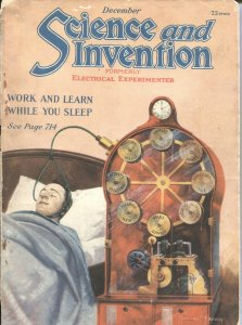 SCIENCE AND INVENTION--DEC 1921-GERNSBACK SCI-FI PULP THRILLS AND TECHNICAL INFO