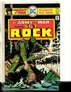 Lot Of 6 Our Army At War DC Comic Books Sgt. Rock # 285 294 295 296 299 300 FM1