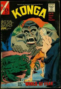 KONGA #17-THE WORLD OF FEAR-CHARLTON COMICS VG