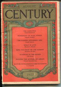Century Illustrated Monthly Magazine 8/1927-pulp thrills-King Solomon-G